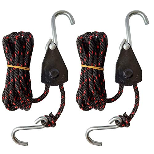 - Light Heavy Duty Adjustable Rope Rat Secure Canoe and Kayak Bow and Stern Tie Down Straps (1/4