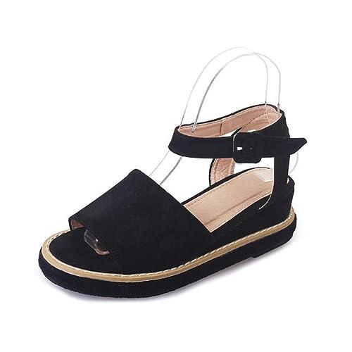 aa2f5003fcd3f Sandales Compensés Femmes Mode Chaussures Talons Peep-Toe Suède Élégant  Plateforme Sandale  Amazon.fr  Chaussures et Sacs