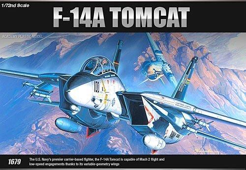 Academy 1/72scale model kit U.S. NAVY SWING-WING FIGHTER F-14A_12471