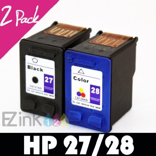 Remanufactured Ink Cartridge Replacement for HP 27 and HP 28 (1 Black 1 Color 2 Pack)