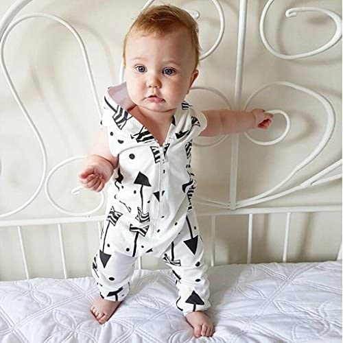 Moonker Newborn Infant Baby Girls Floral Romper Cute Summer Clothes Sleeveless Onesies Bodysuits 0-2 T