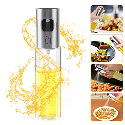 Besmon Olive Oil Sprayer Food-grade Glass Bottle dispenser for Cooking, BBQ, Salad, Kitchen Baking, Roasting, Frying (1 PCS)