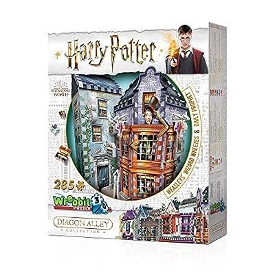 WREBBIT 3D - Harry Potter Weasleys' Wizard Wheezes & Daily Prophet 3D Jigsaw Puzzle - 280Piece, Brown/A: Toys & Games