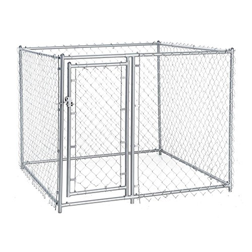 Lucky-Dog-Galvanized-Chain-Link-Kennel-with-PC-Frame
