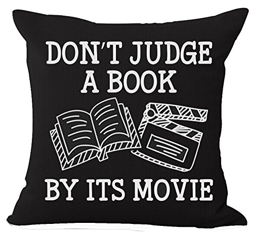 """Don't Judge A Book By It's Movie"" pillow case cover by Andreannie"