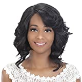 Vivica A Fox Hair Collection Tori New Futura Synthetic Fiber Full Lace Front Wig, 1B, 10 Ounce