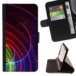 For Samsung ALPHA G850 Case , Líneas Ripple Resumen Blood Red- la tarjeta de Crédito Slots PU Funda de cuero Monedero caso cubierta de piel