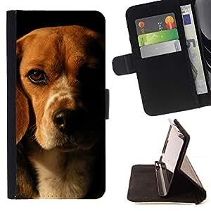 Momo Phone Case / Flip Funda de Cuero Case Cover - Beagle Marrón Negro perro de mascota; - Sony Xperia M2