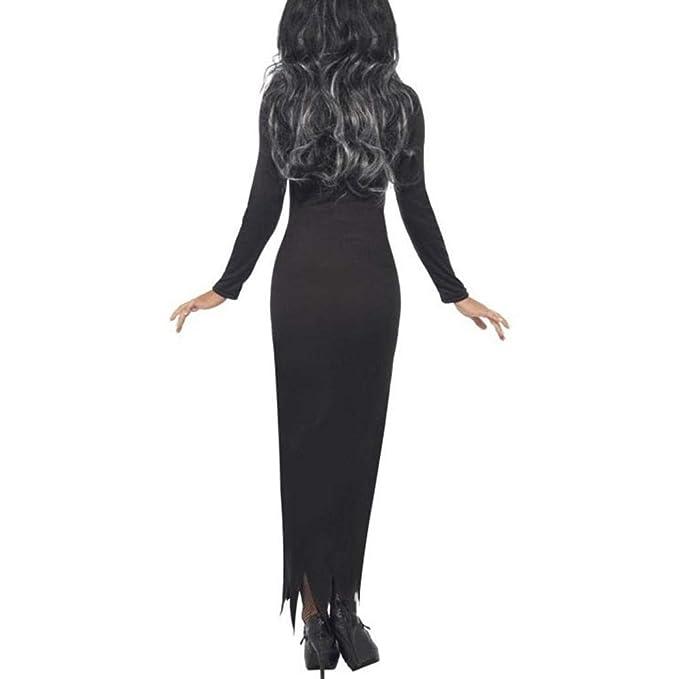 c2912ef76 OverDose mujer De Halloween Fantasma Festival Horror Esqueleto Borla  Novedad Disfraz Fiesta Vestido Largo  Amazon