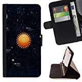 Graphic4You Solar System Map Space Astrology Design Thin Wallet Card Holder Leather Case Cover Google Pixel 2