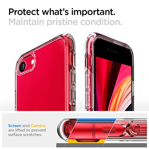 Spigen Ultra Hybrid [2nd Generation] (Anti-Yellowing) Designed for iPhone SE 2020 Case/Designed for iPhone 8 Case (2017…
