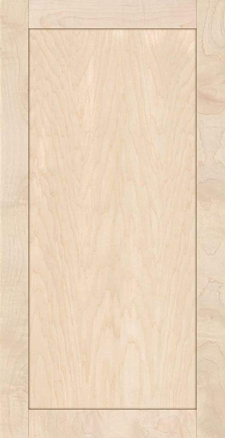 10H x 20W Unfinished Maple Flat Drawer Front with Edge Detail by Kendor