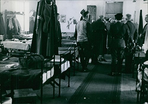 Vintage photo of Sleeping dormitory of Polish officers in the Romanian town T226;rgoviÈte. Spring 1940.