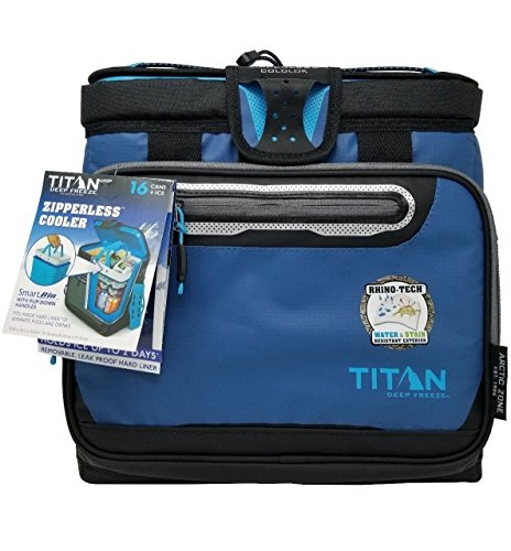 EUNI Arctic Zone Titan Deep Freeze Zipperless Messenger Bag Cooler 16 cans ()