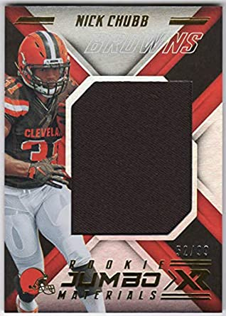 san francisco 6eec9 ec87f Amazon.com: Nick Chubb 2018 Panini XR Jumbo Jersey Card ...