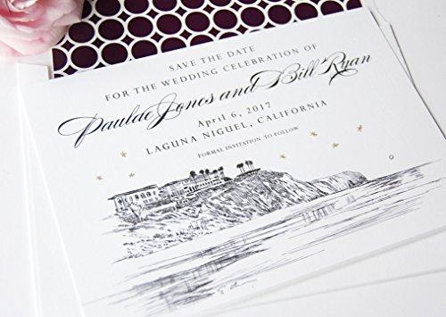 Laguna Beach Skyline Wedding Save the Dates (Set of 25)