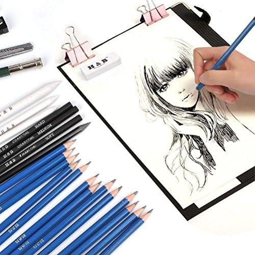 24 Farben  Skizzierstifte Zeichenset Zeichnen Skizzieren Zeichenstift Bleistifte