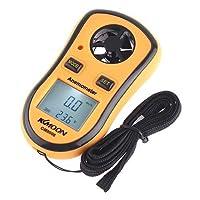 KKmoon GM8908 LCD Digital Wind Speed Temperature Measure Gauge AnemoMeter Ideal Tool for Windsurfing Sailing Fishing Kite Flying Mountaineering