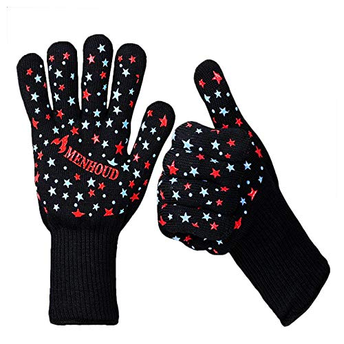 Oven Mitts Oven Sleeves - 1 Pc Aramid Fire Insulation Gloves Heat Resistant Glove 932f Bbq Oven Support - Cover Bbq Fire Shield Special Crystal Kitchen Glove Shield Proof Bat by Unknown (Image #1)