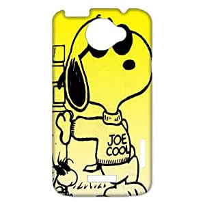 3D Print Classic Comics Peanuts Snoopy Case Cover for HTC One X- Personalized Cell Phone Protective Hard case Shell