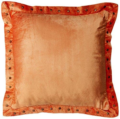 Bombay Dyeing Velvet Textured Cotton Cushion – 16″x16, Rust