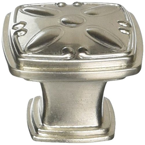Jeffrey Alexander 1093SN Milan Decorated Square Knob, Nickel ()