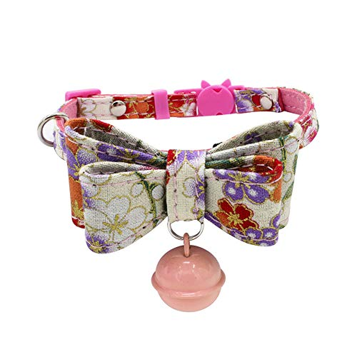 Collar For Small Dogs And Cats Cute Bowtie