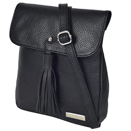 Bag the Purses Leather Messenger Crossbody for Bags Shoulder Black Womens Over Small Handbag Cross Pebble Small Women Body Purse FA0wFqPz