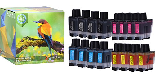 Ink Hero 16 Pack Ink Cartridges for Brother LC-41 DCP 110C 115C 120C 314CN Intellifax 1840C 1940CN 2440C MFC 210C 215C 3240C 3340CN 420CN 425CN 5440CN 5840CN 620CN 640CW 820CW (Printer Lc41 Cartridge)
