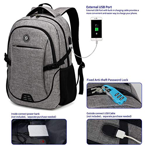 Travel Laptop Backpack with usb Charging Port for Women & Men School College Students Backpack Fits 15.6 Inch Laptop 2