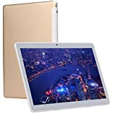 KUBI 10 inch Tablet Pc Android 7.0 1280x800 IPS Tablets PC Octa Core RAM 4GB ROM 64GB 8MP 3G Dual sim Card Phone Call GPS Bluetooth 7 9 (Gold)