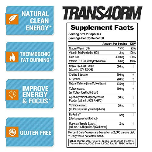 Evlution Nutrition Trans4orm Thermogenic Energizing Fat ...