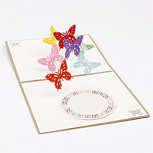 3D Pop Up Cards Wedding Lover Happy Birthday Anniversary Greeting Cards H