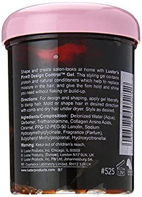 Luster's Pink Gel Design Control, 8.5 Ounce