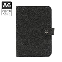 A6 6holes Felt Binder Notebook Diary Cover Spiral Loose Leaf Notebook Shell,Without Filler Pages