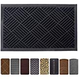 Mibao Entrance Door Mat, 24 x 36 inch Large Low-Profile Non-Slip Welcome Front Outdoor Rug, Doormat for Entry, Patio