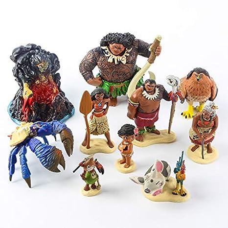 Amazon.com: Set de 10 piezas de dibujos animados Moana ...