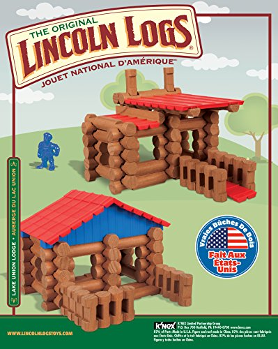 Review LINCOLN LOGS – Lake Union Lodge – 88 Pieces – Ages 3+ – Preschool Educational Toy
