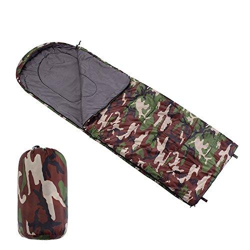 Camping Sleeping Bag Envelope Outdoor Lightweight Portable Waterproof for Camping Traveling, Hiking. 2 Season Spring and Summer