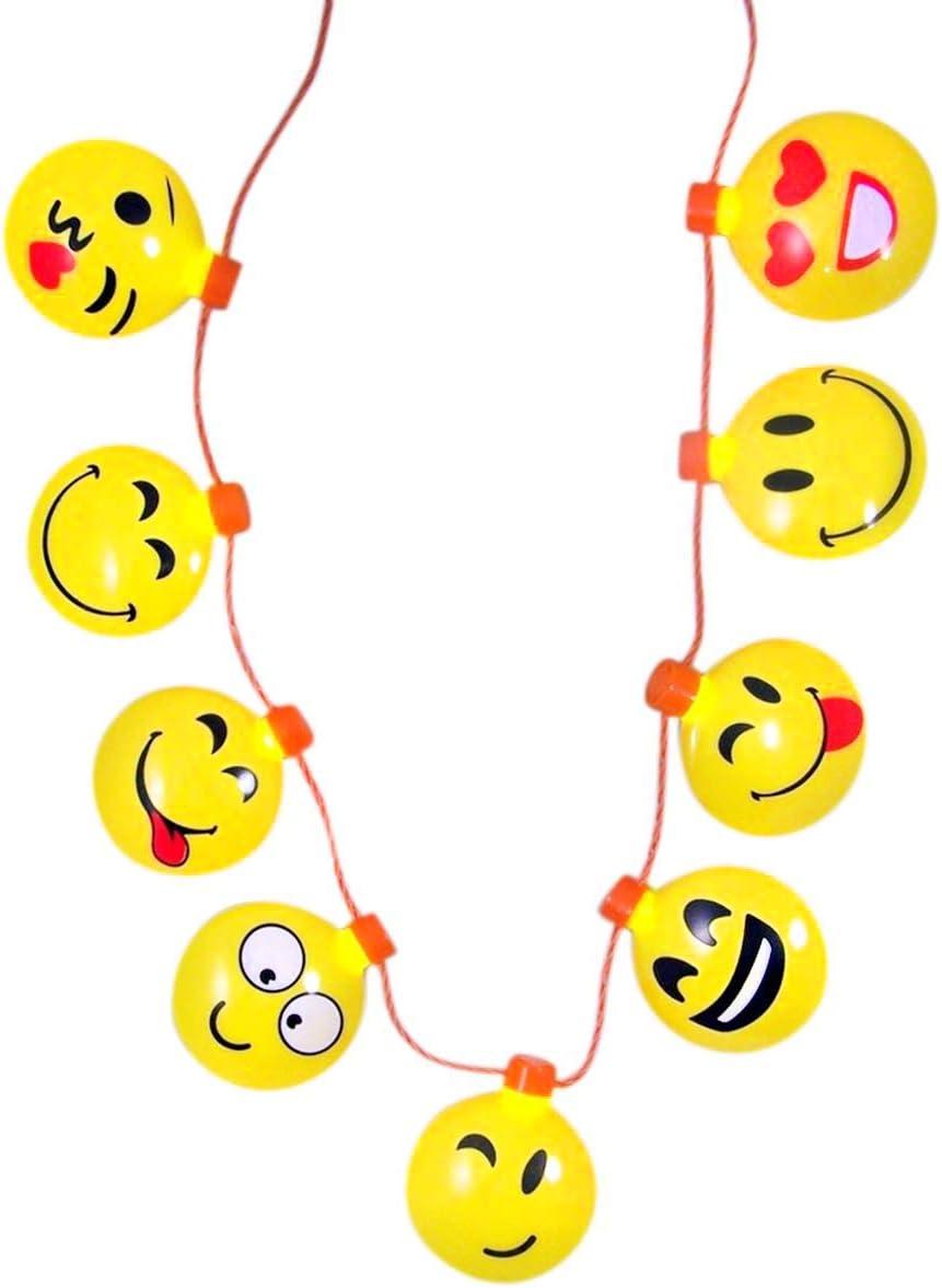 Emoji Necklace Collar con Colgante de Emoticono con luz LED ...