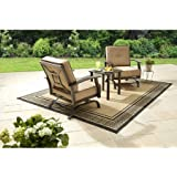 Captivating Better Homes And Gardens Carter Hills 3 Piece Outdoor Chat Set, Seats 2 (