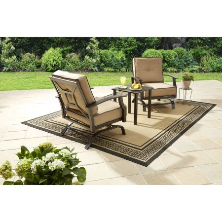 Better Homes and Gardens Carter Hills 3-Piece Outdoor Chat Set, Seats 2 (Tan)