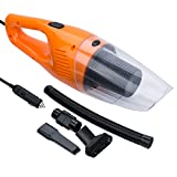 FREESOO Car Vacuum Cleaner with Led Light Dry and Wet Washable HEPA Filter Portable Handheld Mini DC 12V 120W Orange Review