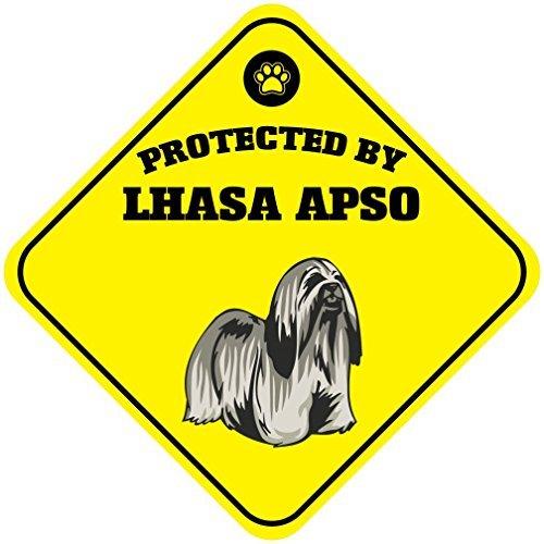 Cartel de aluminio para perro WenNuNa protegido por Lhasa ...