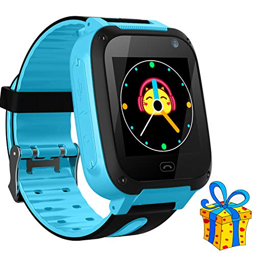 Kids Smart Watch Phone smartwatches for Children with LBS/GPStracker sim Card Anti-Lost sos Call Boys and Girls Birthday Compatible Android iOS Touch Screen Voice Chat Remote Camera (Phone For Cell Child)