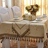 Cloth Table Runner In The Full Margin,European-style Luxury Silk Table Cloth Tablecloth,Pad Mat Pillow-A 145220m(57x87inch)