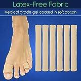 ViveSole Toe Sleeves [6 Pack] - Silicone Gel Tube
