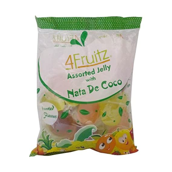 4Fruitz Jelly with NATA De Coco - Assorted, 300g Pouch