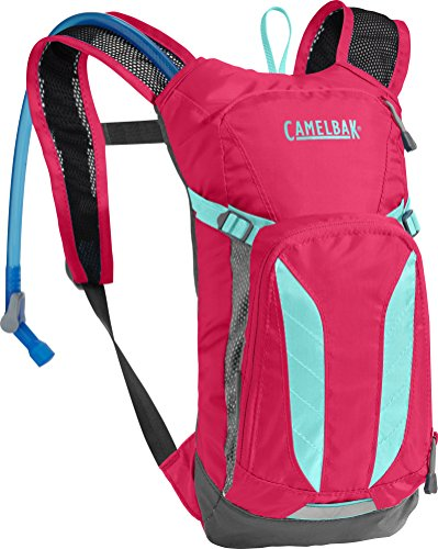 CamelBak Kids Mini M.U.L.E. Crux Reservoir Hydration Pack, Azalea/Aruba Blue, 1.5 L/50 oz