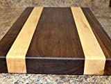 Black Walnut and Maple Set 12 widthx 18 1/2 Length 2 inches'' Thick and 8x8 3/4 Thick-Cutting Board